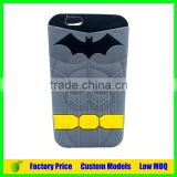 High quality Batman custom Silicone 3d phone case for Iphone 6plus cell phone case back cover