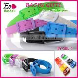 High Quality Eco-friendly Silicone Belt Silicone Jelly Belt with Plastic Buckle