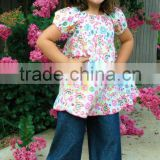 New design kids ruffle denim pants,Baby Denim bell-bottoms wholesale,2015 cowboy pant for girls