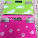 6in1 150KG DIGITAL ELECTRONIC LCD BMI CALORIE BODY FAT BATHROOM WEIGHING SCALE GLASS Scale, fat, water, muscle, calorie