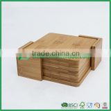 Squar Shaped Bamboo Pad Hot Insulation Plate Cup Mat for coffer bowl