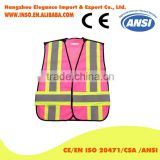 High Quality Green Blue Safety Vest Pink 3M reflective Vest Women's Fashion Vest