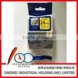OEM standard TZ2-651 label tape for Brother labeling maker made in China black on Yellow 24mm