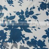 chiffon blue flower printed fabric