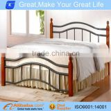 wooden poster bed with steel tube
