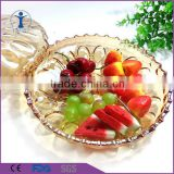 cheap wholesale color charger plates for wedding decorative fruit glass plates