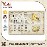 Custom Printing Logo Craft Calendar Plaque Metal Birds For Crafts