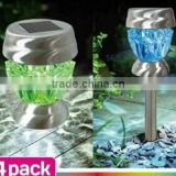 Smart & Garden Crystal Glass Solar Stake Lights table/stake 2 use solar crsytal lamp SO2637