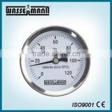 Hot water boiler temperature gauge