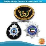 High quality classic military hand embroidery family crest blazer badge