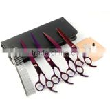 curved professional dog grooming hair scissors set