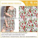 Amazing Indian Hand Decorated Embroidery Dress 3D Rose Floral Green Stem Embroider Texile Fabric for Summer Tunic Manufactory