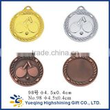 98# gold silver bronze sports factory directly sale metal medallion craft table tennis ping-pong ball badge award medal
