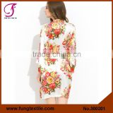 FUNG 3002 New Floral Womens Silk Robes