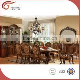 Royal Luxury classical wooden dining room furniture set,European style dining set, dining table and chairs A11