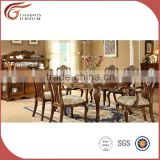 Top grade solid wood rotating round tables European antique dining room furniture A20