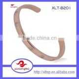 wholesale websites in china jewelry crystal bangle/ zircon bangle, crystal bracelets gold bangle in stainless steel