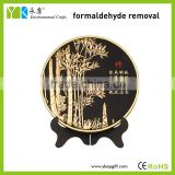 Chinese style plant bamboo plate shape cheap home decor living room hall decoration items