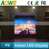 AOWE P5 indoor concert event stage show full color led display aluminum die casing stage show