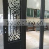 Wrought Iron door Elegant house wrought iron doors with good lock buy door from China Manufacturer made in Xiamen,China