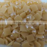new product light champagne color 14mm square flat back ceramic beads for mobile cover decoration