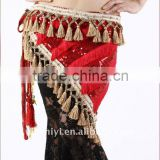 Red Belly Dance Tribal Hip Scarf