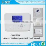 Auto Usage Wireless&Wired GSM SMS Home Burglar Security Fire Alarm System With Smoke Sensor