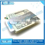 Stainless steel blank magnet money clip