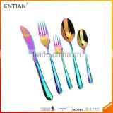 Inox flatware set cutlery stainless steel international stainless steel flatware by pvd coating machine