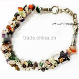 Buy online Mix Gemstone Chips Fuse Wire Bracelet from Prime Agate Exports | Agate Jewelry For Sale