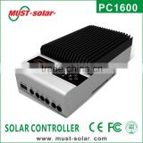 MPPT Solar charge controller 20A/30A/40A/45A/60A home use with LCD& RS232 terminal setting by PC