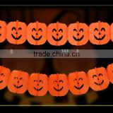 festival banner design orange pumpkin skull ghost banner halloween hanging decoration garland paper