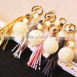 DIY Jewelry Making Mix Wild Fashion Pearl Rhinestone Leather Tassel Keychain Lovely Lady Bag Buckle Gift Pendant Ornaments