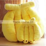 EN71&ASTM-F963 veried soft custom Stuffed Yellow Pillows Cushion banana plush toys