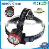 2 In 1 High Brightness 6 x XM-L T6 LED 3 Modes Bike Light Bicycle Front Lamp Headlight Headlamp + Battery Pack + Charger