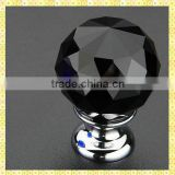 Black Cheap Door Crystal Kitchen Knobs For Cabinet Pull Handles