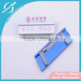 Various Style Aluminium Nameplate name badge with pin name plate maker