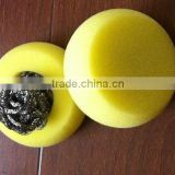 Stainless Steel Scourer in Sponge