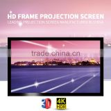 Home theater fabric projector screen ceiling mount Home cinema theater curved projection screen