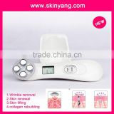 Shenzhen best home rf skin tightening face lifting machine with laser slimming instrument acne treatment facial tanner beauty