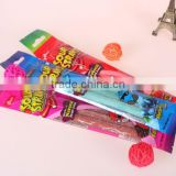 60g good quality sugar coated center filled soft sour candy