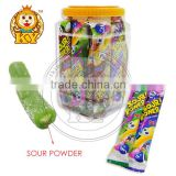 Halal Sugar Coated Starch Sour Straw Candy