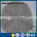 304 stainless steel cast iron cleaner chainmail scrubber
