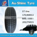 utility trailer tires ST175/80D13 ST205/75D15 ST225/75D15 ST205/75D14 small trailer tire and wheel