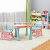 kids plastic study table with bookshelf