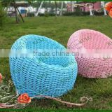2015 newest style morden durable poly PE round plastic garden rattan sofa,outdoor rattan lazy sofa