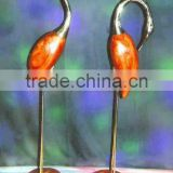 Brass & Wooden crane pair set for home decoration, Wedding decoration crane pair set