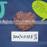 Cuprous steel wire heart shaped business storage gift box