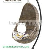 hanging indoor rattan swing