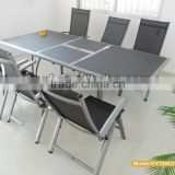 dining table extendable/extendable glass dining table/fold beach chair with armrest in stock